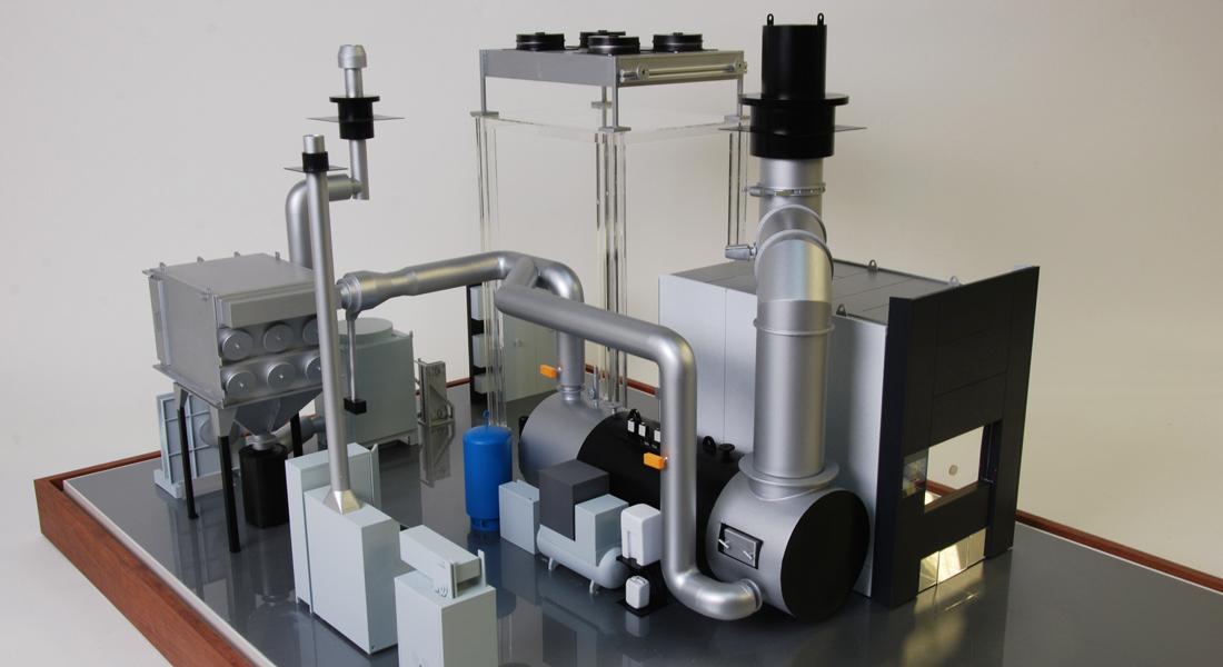 Maquette crematie installatie